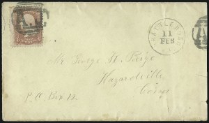 Sale Number 954, Lot Number 3064, 1861-69 Issues and Fancy Cancellations3c Rose (65), 3c Rose (65)