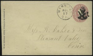 Sale Number 954, Lot Number 3067, 1861-69 Issues and Fancy Cancellations3c Pink, entire (U58), 3c Pink, entire (U58)