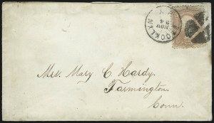 Sale Number 954, Lot Number 3108, 1867-68 Grills, Bank Notes & Later Issues3c Rose, C. Grill (83), 3c Rose, C. Grill (83)
