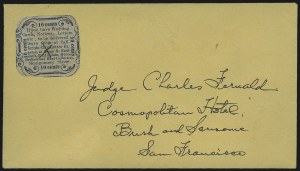 Sale Number 954, Lot Number 3136, Carriers, Locals and Independent MailsCalifornia City Letter Express Co., San Francisco, 10c Blue (33L5), California City Letter Express Co., San Francisco, 10c Blue (33L5)