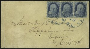 Sale Number 954, Lot Number 3156, Independent State & C.S.A. Use of U.S. StampsColumbia S.C. Feb. 20 (1861), Columbia S.C. Feb. 20 (1861)