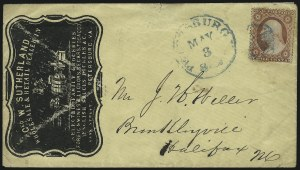 Sale Number 954, Lot Number 3159, Independent State & C.S.A. Use of U.S. StampsPetersburg Va. 3cts. May 3 (1861), Petersburg Va. 3cts. May 3 (1861)