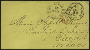Sale Number 954, Lot Number 3160, Independent State & C.S.A. Use of U.S. StampsNew Orleans La. 15 May (1861), New Orleans La. 15 May (1861)