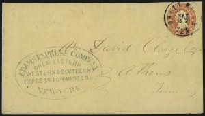 Sale Number 954, Lot Number 3162, Independent State & C.S.A. Use of U.S. StampsAdams Express Company, Great Eastern, Western & Southern Express Forwarders. New-York, Adams Express Company, Great Eastern, Western & Southern Express Forwarders. New-York
