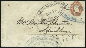 Sale Number 954, Lot Number 3164, Independent State & C.S.A. Use of U.S. StampsAdams Express Company, Great Eastern, Western & Southern Express Forwarders, New-York, Adams Express Company, Great Eastern, Western & Southern Express Forwarders, New-York