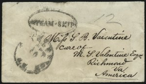 Sale Number 954, Lot Number 3381, Official Imprints, Blockade-Run Mail, Trans-Mississippi ExpressCharleston S.C. Oct. 10, Charleston S.C. Oct. 10