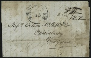Sale Number 954, Lot Number 3382, Official Imprints, Blockade-Run Mail, Trans-Mississippi ExpressWilmington N.C. Aug. 13, Wilmington N.C. Aug. 13