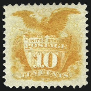 Sale Number 956, Lot Number 113, 1869 Pictorial Issue10c Yellow (116), 10c Yellow (116)