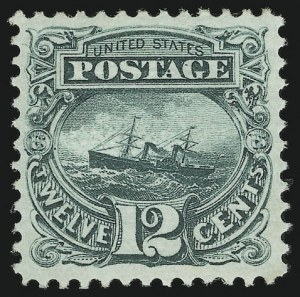 Sale Number 956, Lot Number 114, 1869 Pictorial Issue12c Green (117), 12c Green (117)
