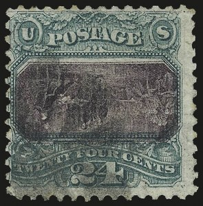 Sale Number 956, Lot Number 122, 1869 Pictorial Issue Inverts24c Green & Violet, Center Inverted (120b), 24c Green & Violet, Center Inverted (120b)