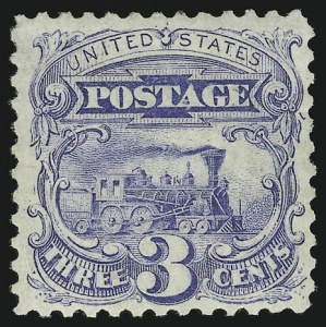 Sale Number 956, Lot Number 126, 1875 Re-Issue of 1869 Pictorial Issue3c Blue, Re-Issue (125), 3c Blue, Re-Issue (125)