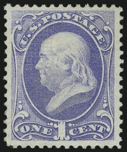 Sale Number 956, Lot Number 135, 1870 National Bank Note Co. Grilled Issue (Scott 134-144)1c Ultramarine, Grill (134), 1c Ultramarine, Grill (134)