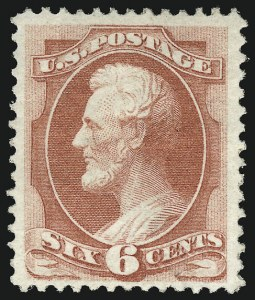 Sale Number 956, Lot Number 138, 1870 National Bank Note Co. Grilled Issue (Scott 134-144)6c Carmine, Grill (137), 6c Carmine, Grill (137)