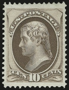Sale Number 956, Lot Number 140, 1870 National Bank Note Co. Grilled Issue (Scott 134-144)10c Brown, Double Grill (139 var), 10c Brown, Double Grill (139 var)