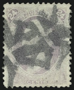 Sale Number 956, Lot Number 142, 1870 National Bank Note Co. Grilled Issue (Scott 134-144)24c Purple, Grill (142), 24c Purple, Grill (142)