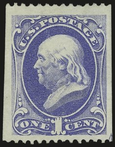 Sale Number 956, Lot Number 163, 1875 Continental Bank Note Co. Special Printing1c Ultramarine, Special Printing (167), 1c Ultramarine, Special Printing (167)