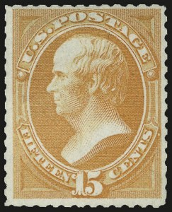 Sale Number 956, Lot Number 170, 1875 Continental Bank Note Co. Special Printing15c Bright Orange, Special Printing (174), 15c Bright Orange, Special Printing (174)