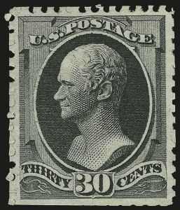 Sale Number 956, Lot Number 172, 1875 Continental Bank Note Co. Special Printing30c Greenish Black, Special Printing (176), 30c Greenish Black, Special Printing (176)