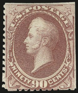 Sale Number 956, Lot Number 173, 1875 Continental Bank Note Co. Special Printing90c Violet Carmine, Special Printing (177), 90c Violet Carmine, Special Printing (177)
