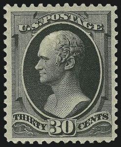 Sale Number 956, Lot Number 185, 1879 American Bank Note Co. Issue (Scott 182-191)30c Full Black (190), 30c Full Black (190)