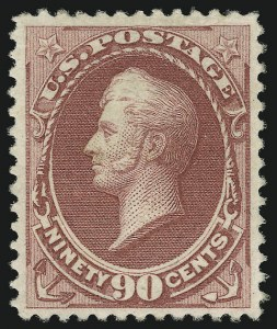 Sale Number 956, Lot Number 186, 1879 American Bank Note Co. Issue (Scott 182-191)90c Carmine (191), 90c Carmine (191)