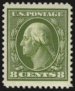 Sale Number 956, Lot Number 358, 1908-12 Issues (Scott 369-396)8c Olive Green (380), 8c Olive Green (380)
