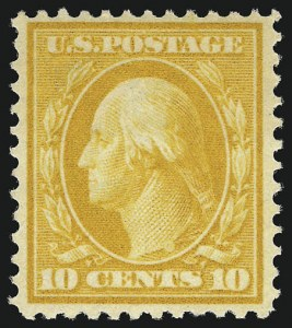 Sale Number 956, Lot Number 359, 1908-12 Issues (Scott 369-396)10c Yellow (381), 10c Yellow (381)