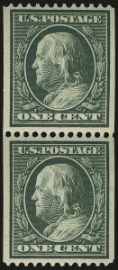 Sale Number 956, Lot Number 362, 1908-12 Issues (Scott 369-396)1c Green, Coil (385), 1c Green, Coil (385)