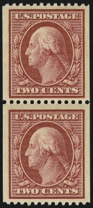 Sale Number 956, Lot Number 364, 1908-12 Issues (Scott 369-396)2c Carmine, Coil (386), 2c Carmine, Coil (386)