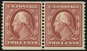 Sale Number 956, Lot Number 369, 1908-12 Issues (Scott 369-396)2c Carmine, Coil (388), 2c Carmine, Coil (388)