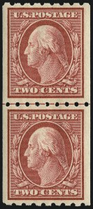 Sale Number 956, Lot Number 376, 1908-12 Issues (Scott 369-396)2c Carmine, Coil (391), 2c Carmine, Coil (391)