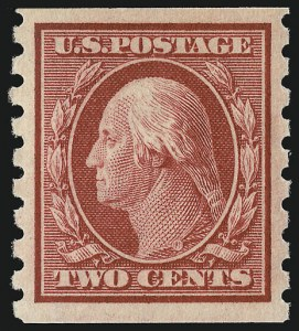 Sale Number 956, Lot Number 380, 1908-12 Issues (Scott 369-396)2c Carmine, Coil (393), 2c Carmine, Coil (393)