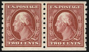 Sale Number 956, Lot Number 381, 1908-12 Issues (Scott 369-396)2c Carmine, Coil (393), 2c Carmine, Coil (393)