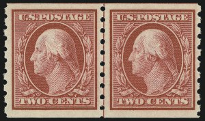 Sale Number 956, Lot Number 382, 1908-12 Issues (Scott 369-396)2c Carmine, Coil (393), 2c Carmine, Coil (393)
