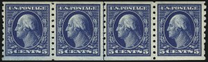 Sale Number 956, Lot Number 391, 1908-12 Issues (Scott 369-396)5c Blue, Coil (396), 5c Blue, Coil (396)
