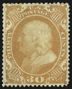 Sale Number 956, Lot Number 48, 1857-60 Issue30c Orange (38), 30c Orange (38)
