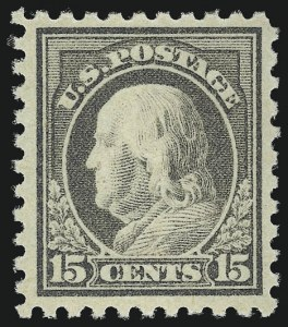 Sale Number 956, Lot Number 480, 1912-16 Issues (Scott 461-480)15c Gray (475), 15c Gray (475)