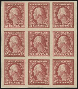 Sale Number 956, Lot Number 488, 1917-23 Issues (Scott 482A-485)5c Carmine, Imperforate, Error (485), 5c Carmine, Imperforate, Error (485)