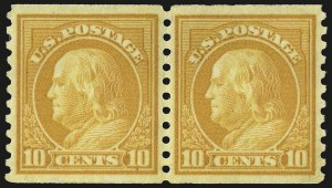 Sale Number 956, Lot Number 489, 1917-23 Issues (Scott 486-497)1c-10c 1916-22 Issue Coils (486-490, 492-497), 1c-10c 1916-22 Issue Coils (486-490, 492-497)