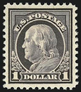 Sale Number 956, Lot Number 505, 1917-23 Issues (Scott 498-524)$1.00 Violet Brown (518), $1.00 Violet Brown (518)