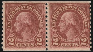 Sale Number 956, Lot Number 524, Later Issues2c Carmine, Ty. II, Coil (599A), 2c Carmine, Ty. II, Coil (599A)
