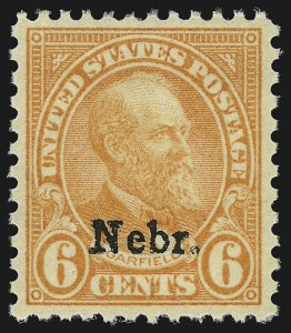 Sale Number 956, Lot Number 531, Later Issues6c Nebr. Ovpt. (675), 6c Nebr. Ovpt. (675)
