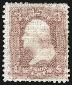 Sale Number 956, Lot Number 77, 1867-68 Grilled Issues3c Rose, A. Grill (79), 3c Rose, A. Grill (79)