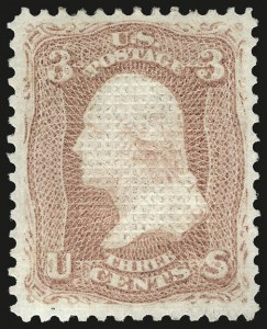 Sale Number 956, Lot Number 78, 1867-68 Grilled Issues3c Rose, C. Grill (83), 3c Rose, C. Grill (83)