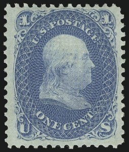 Sale Number 956, Lot Number 83, 1867-68 Grilled Issues1c Blue, E. Grill (86), 1c Blue, E. Grill (86)