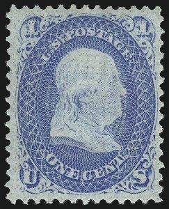 Sale Number 956, Lot Number 89, 1867-68 Grilled Issues1c Blue, F. Grill (92), 1c Blue, F. Grill (92)