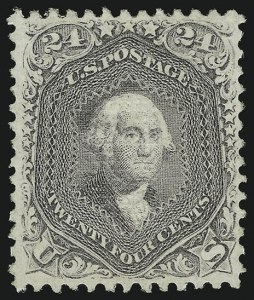 Sale Number 956, Lot Number 96, 1867-68 Grilled Issues24c Gray Lilac, F. Grill (99), 24c Gray Lilac, F. Grill (99)