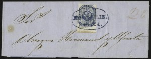 Sale Number 957, Lot Number 194, Colombia 1859 First Issue 1859, 20c Blue (6), 1859, 20c Blue (6)