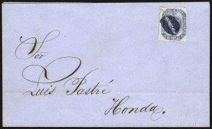Sale Number 957, Lot Number 198, Colombia 1859 First Issue 1859, 20c Blue (6), 1859, 20c Blue (6)