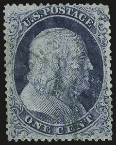 Sale Number 958, Lot Number 545, 1857-60 Issue1c Blue, Ty. III (21), 1c Blue, Ty. III (21)